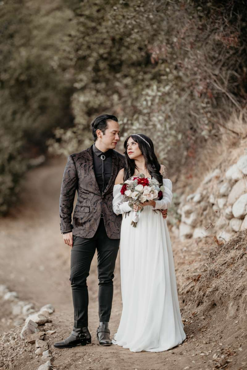 Eloping Couple Smiling