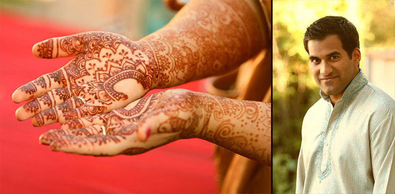 Bride showing her Henna